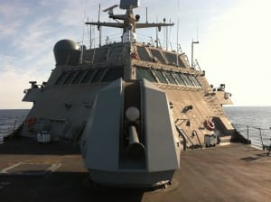 The LCS program again could be under the gun. Photo aboard the USS Forth Worth by Defense Daily.