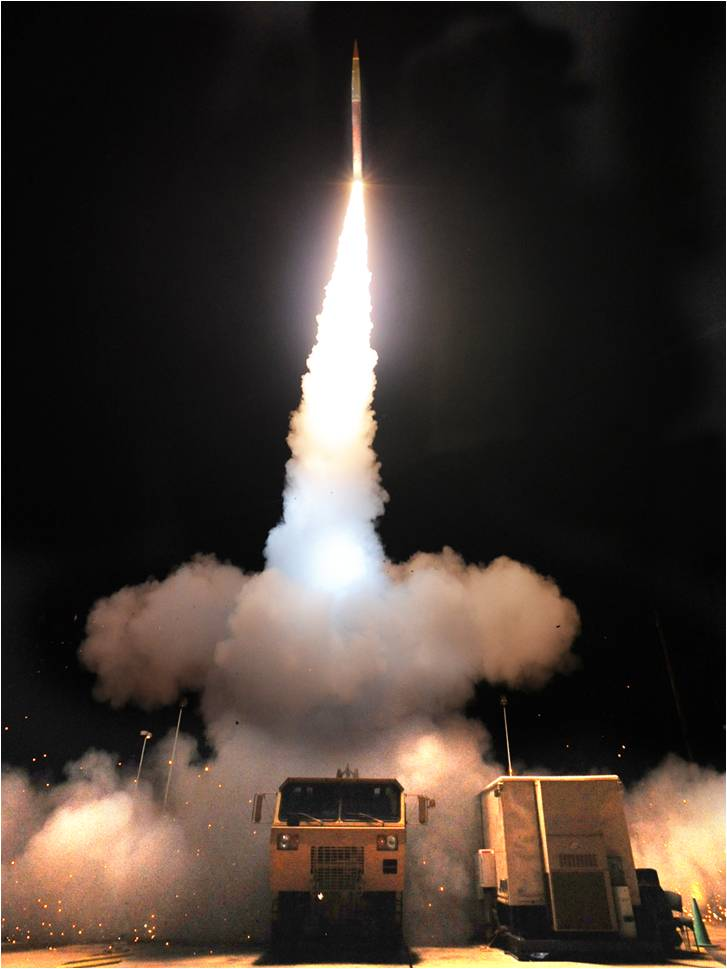 A Terminal High Altitude Area Defense (THAAD) battery fires an interceptor missile. Photo: Lockheed Martin.