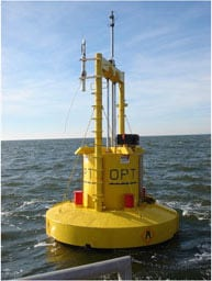 Lockheed Martin will employ the PowerBuoy energy converter from Ocean Power Technologies. Photo: OPT.