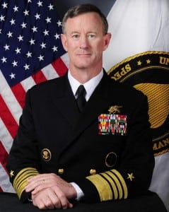 U.S. Special Operations Command (USSOCOM) chief Navy Adm. William McRaven. Photo: Navy.