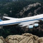 Air Force One is currently a Boeing 747-200B. Photo: White House.