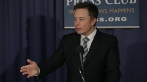 SpaceX founder and CEO Elon Musk speaks during an April 25, 2014, press conference in Washington. Photo: SpaceX.