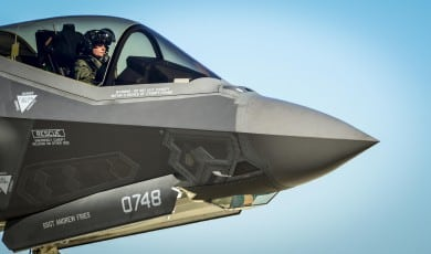 F-35A conventional Air Force variant of the Joint Strike Fighter (JSF). Photo: Air Force.