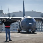 An AC-130J taxis the runway for its first official sortie Jan. 31, 2014, at Eglin AFB, Fla. Photo: Air Force.