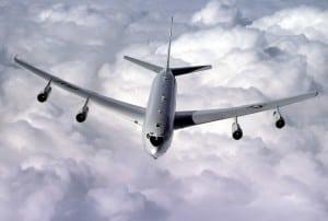 An E-8C Joint Surveillance Target Attack Radar System (JSTARS) aircraft. Photo: Air Force.