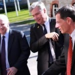 Senators John McCain (R-Ariz.), John Barrasso (R-Wyo.), and Sheldom Whitehouse (D-R.I.) visit the NATO Cooperative Cyber Defense Center of Excellence in Tallinn, Estonia.  Photo: NATO.