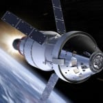 Artist's concept of the completed Orion spacecraft. Image: NASA.