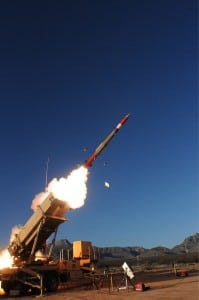 A PAC-3 Missile Segment Enhancement (MSE) missile test is conducted at the White Sands Missile Range, N.M. as part of a flight test for the U.S. Army. (Photo: Lockheed Martin)