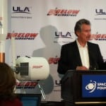 Bigelow Aerospace founder Bob Bigelow discusses his B330 habitable vehicle the company is developing with United Launch Alliance (ULA). Photo: Defense Daily.