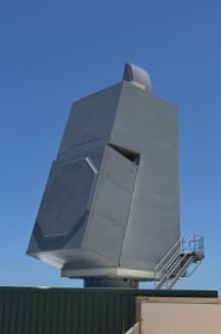 AN/SPY-6(V) Air and Missile Defense Radar array at the U.S. Navy's Pacific Missile Range Facility in Hawaii. Photo: Raytheon.