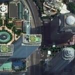 Earth imagery from DigitalGlobe satellite. Image: DigitalGlobe