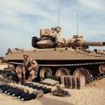 An M551A1 Sheridan light tank during Operation Desert Shield.