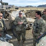 U.S. Army Chief of Staff Gen. Mark A. Milley talks with Special Operation Forces Soldiers training at the U.S. Army National Training Center, Ft. Irwin, Calif., Nov. 6, 2016. (U.S. Army photo by Sgt. 1st Class Chuck Burden)