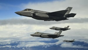 Hill Air Force Base F-35As fly in formation over the Utah Test and Training Range, March 30, 2017. (U.S. Air Force photo/R. Nial Bradshaw)