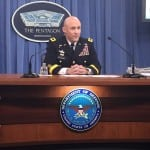 Army Budget Director Maj. Gen. Thomas Horlander briefs reporters on the service's fiscal year 2018 budget request on May 23, 2017 at the Pentagon. (Photo by Dan Parsons)