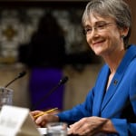 Heather Wilson testifies before the Senate Armed Services Committee on her nomination to be Air Force secretary. (Air Force photo)