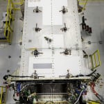 The second GPS III satellite has been assembled. (Photo courtesy of Lockheed Martin)