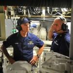 Coast Guard Commandant Adm. Paul Zukunft, left. Photo: Patrick Kelley, Coast Guard.