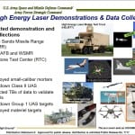 A slide from Lt. Gen. James Dickinson's presentation at a July 18 AUSA event, High Energy Laser Demonstrations and Data Collections. Image: U.S. Army.