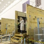 Lockheed Martin is building the first 10 GPS III satellites at a plant near Denver. (Photo courtesy of Lockheed Martin)