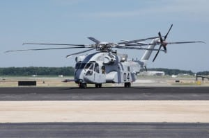 The CH-53K King Stallion arrives at Naval Air Station, Patuxent River on June 30, 2017.  Photo courtesy U.S. Navy. (PRNewsfoto/Lockheed Martin)
