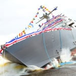The future USS Little Rock was launched in July 2015. Photo: Lockheed Martin.