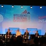 Directors of the the U.S.'s national intelligence organizations speak at an AFCEA INSA national intelligence summit panel on Sept. 7. Photo: Matthew Beinart.