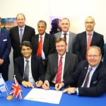 Elbit Systems and Lockheed Martin officials sign a strategic teaming agreement to work on UK Royal Navy Maritime Electronic Warfare Program (MEWP). (Photo: Lockheed Martin.)