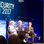Former national security officials Richard Clarke and Ret. Gen. Michael Hayden at a Washington Post cyber event. Photo: Matthew Beinart.