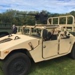 A Humvee equipped with the Enhance Tactical Transportability  applique kit. (Photo by Dan Parsons)