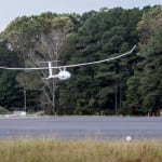 The VA001 landing after 5 days of flight at NASA Wallops Flight Facility. (Photo: NASA)