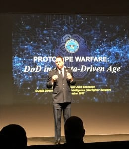 Department of Defense's Lt. Gen. Jack Shanahan at NVIDIA's GTC summit. Photo: Matthew Beinart.