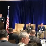 Panel on cloud migration at the Defense Systems Summit. Photo: Matthew Beinart.