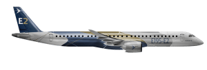 Embraer's E195-E2 aircraft seats between 120 and 146 passengers depending on configuration. Photo: Embraer