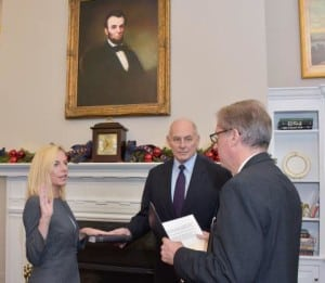 Kirstjen Nielsen being sworn  in as the new DHS Secretary on Dec. 6. Photo: DHS.