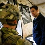 Secretary of the Army Dr. Mark T. Esper (right), discusses unit readiness with Lt. Col. Christopher L'Heureux, the commander of the 2nd Squadron, 2nd Cavalry Regiment, during Allied Spirit VIII at Hohenfels Training Area, Germany, Jan. 30, 2018. The Secretary of the Army visited Allied Spirit VIII to observe the training exercise. (U.S. Army photo by Spc. Hubert D. Delany III / 22nd Mobile Public Affairs Detachment)