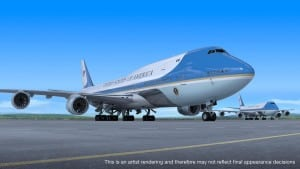 An artist's rendering of the future Air Force One. (Boeing photo)