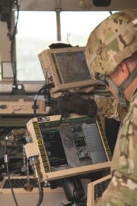 Soldier uses the Joint Battle Command-Platform on the first-gen MFoCS. Photo: U.S. Army.