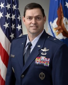 "Brig. Gen. B. Chance ""Salty"" Saltzman, director of current operations for the Air Force deputy chief of staff for operations. (Air Force photo)"