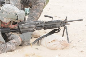 Army's M249 Squad Automatic Weapon light machine gun