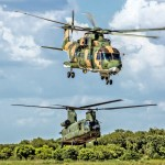 Various helicopter participate in Composite Air Operation flights. Photo courtesy of Wim Das and Kees Otten