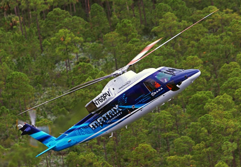 Sikorsky's Autonomy Research Aircraft (SARA) in flight. (Sikorsky photo)