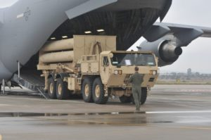 A Terminal Altitude Area Defense (THAAD) system battery is offloaded in Israel before participating in an exercise between the U.S. and Israeli military forces. (Photo: U.S. Army)