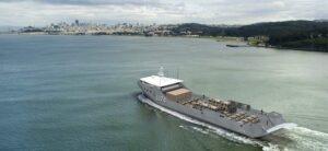 Australia's Sea Transport Solutions' stern landing vessel design concept. (Image: Sea Transport Solutions)