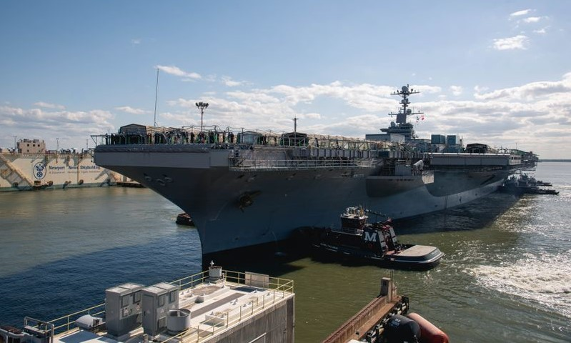 CVN-74 Arrives At HII For Mid-Life Refueling