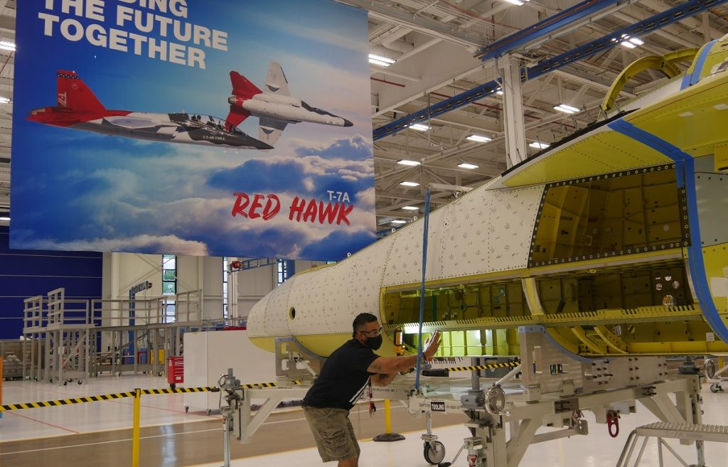 Digital Engineering Leads to Fast Joining of T-7A Forward and Aft Fuselage, Boeing Says