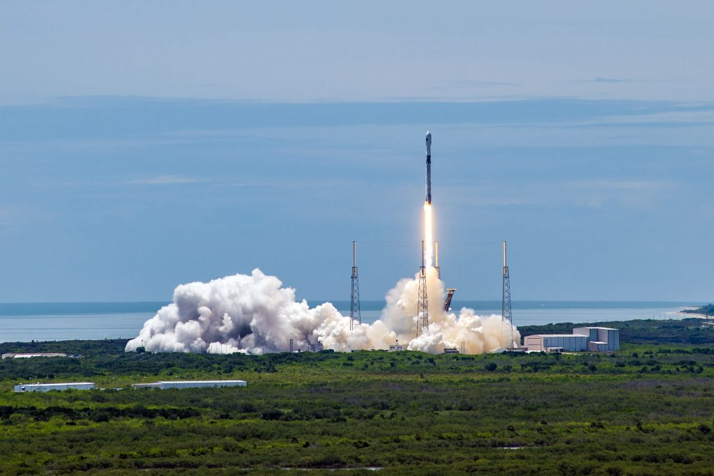 SpaceX Launches GPS III Satellite on Reused Booster in a US Military Milestone