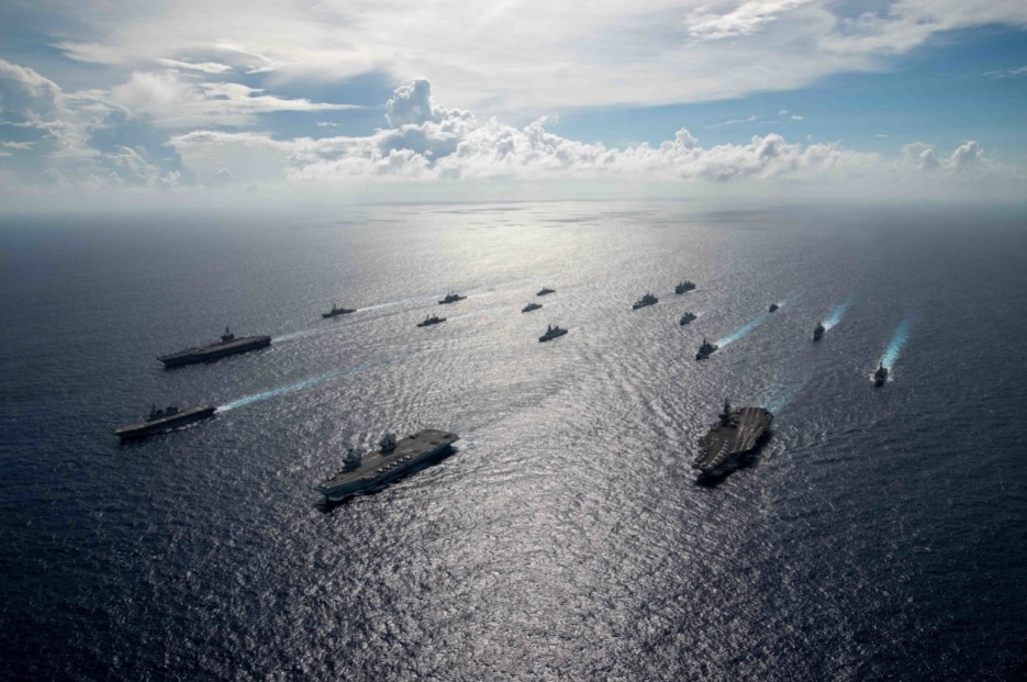 , U.S. And Allied Carrier Strike Groups Operate Jointly in 7th Fleet, The World Live Breaking News Coverage & Updates IN ENGLISH